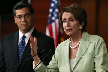 Nancy Pelosi Xavier Becerra Pelosi Holds News Conference After Democratic Caucus Meeting With Obama