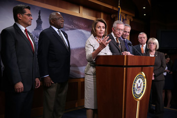 Nancy Pelosi Xavier Becerra Congressional Democratic Leaders Hold Press Conference on Path to Budget Deal