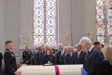 Nancy Pelosi Funeral Mass Held For Rep. John Dingell At D.C.'s Holy Trinity Catholic Church
