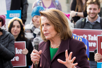 """Nancy Pelosi Advocates From MoveOn.org And Others Demonstrate At A 'Kill The Bill' Rally To Demand The House GOP Vote """"No"""" On Trumpcare At The Capitol"""
