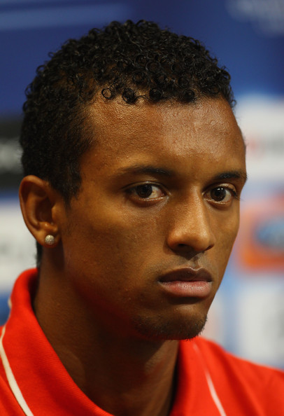 Nani Nani of Manchester United attends a press conference ahead of ...