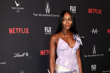 Naomi Campbell The Weinstein Company and Netflix Golden Globe Party, Presented With FIJI Water, Grey Goose Vodka, Lindt Chocolate, and Moroccanoil - Red Carpet
