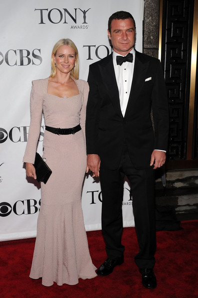 64th Annual Tony Awards - Arrivals [suit,carpet,formal wear,clothing,red carpet,dress,tuxedo,event,fashion,premiere,arrivals,actors,naomi watts,liev schreiber,tony awards,new york city,radio city music hall,64th annual tony awards]