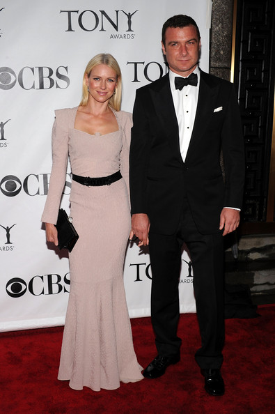 64th Annual Tony Awards - Arrivals [suit,clothing,formal wear,carpet,dress,red carpet,tuxedo,fashion,event,premiere,arrivals,actors,naomi watts,liev schreiber,tony awards,new york city,radio city music hall,64th annual tony awards]