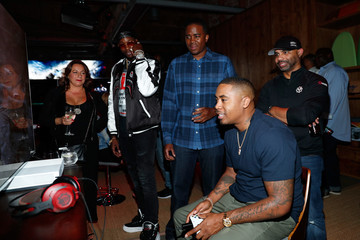 Nas Nas, Todd Gurley, and LA Rams Host Xbox & Gears of War 4 Launch Event at the Microsoft Lounge