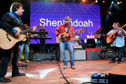 Marty Raybon and Mike McGuire of Shenandoah and Brad Paisley (M) perform onstage during Nashville's 80's dance party to end ALZ benefitting the Alzheimer's Association on September 29, 2019 in Nashville, Tennessee.