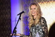 Tracie Hamilton of J/P HRO speaks onstage at Nashville Shines for Haiti benefiting Sean Penn's J/P Haitian relief organization featuring Tim McGraw hosted and underwritten by Johnathon Arndt and Newman Arndt at the Arndt Estate on October 24, 2017 in Brentwood, Tennessee.