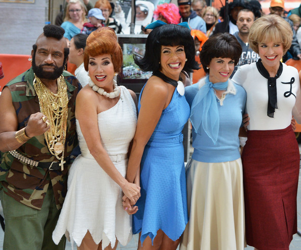 'Today' Hosts Dress Up for Halloween [people,event,youth,fashion,community,crowd,dress,child,recreation,tradition,al roker,hoda kotb,natalie morales,kathie lee gifford,savannah guthrie,l-r,rockefeller plaza,new york city,nbc]