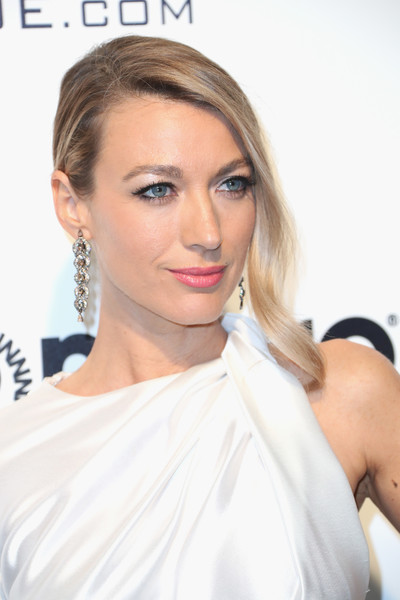25th Annual Elton John AIDS Foundation's Oscar Viewing Party - Arrivals [hair,face,hairstyle,lip,blond,shoulder,eyebrow,skin,beauty,chin,arrivals,natalie zea,west hollywood park,california,the city,elton john aids foundation,oscar viewing party,academy awards viewing party]