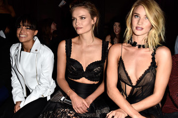 Natasha Poly The Front Row at Atelier Versace for Paris Fashion Week