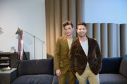 Jeremiah Brent and Nate Berkus attend Nate + Jeremiah for Living Spaces Fall 2019 Collection Media Event at Glasshouse Chelsea on September 12, 2019 in New York City.
