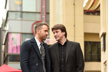 Nathan Fillion Ryan Reynolds Honored With Star On The Hollywood Walk Of Fame