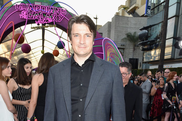 """Nathan Fillion Premiere Of Disney And Marvel's """"Guardians Of The Galaxy Vol. 2"""" - Red Carpet"""