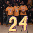 Nathan Morris Celebrities At The Los Angeles Lakers Game