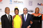 Rev. Al Sharpton, Tamron Hall, Dr. Michael Eric Dyson, and National CARES Mentoring Movement Founder Susan L. Taylor attend the National CARES Mentoring Movement 4th Annual For The Love Of Our Children Gala at The Ziegfeld Ballroom on February 11, 2019 in New York City.