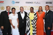 (L-R) Guest, Tamron Hall, Michael Eric Dyson, Tarana Burke, Susan L. Taylor, and guest attend the National CARES Mentoring Movement's third annual For The Love Of Our Children Gala on January 29, 2018 in New York City.  (Photo by Bennett Raglin/Getty Images for National CARES Mentoring Movement))