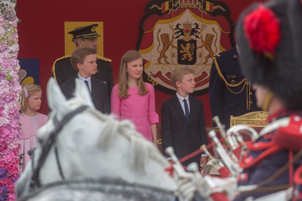 Royals Celebrate the National Day of Belgium 2015