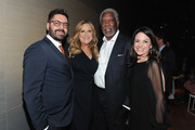 """NGC President Original Programming and Production Tim Pastore, Executive Producer Lori McCreary, Executive Producer Morgan Freeman, and CEO of NGC Global Networks Courteney Monroe attend National Geographic Channel's world premiere screening of """"The Story of God with Morgan Freeman,"""" at Jazz at Lincoln Center on March 21, 2016. The six-part event series, premiering on the network on Sunday, April 3 at 9/8c, will take viewers on a trip around the world to explore different cultures and religions on the ultimate quest to uncover the meaning of life, God and all the big questions in between."""