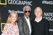 (L-R) Lori McCreary, Morgan Freeman and James Younger attend National Geographic's Contenders Showcase, at The Greek Theatre, a one-of-a-kind outdoor experience and concert celebrating the talent behind the scenes of National Geographic 2019 Emmy contenders on June 02, 2019 in Los Angeles, California.