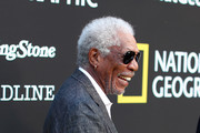 Morgan Freeman attends National Geographic's Contenders Showcase, at The Greek Theatre, a one-of-a-kind outdoor experience and concert celebrating the talent behind the scenes of National Geographic 2019 Emmy contenders on June 02, 2019 in Los Angeles, California.