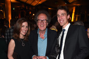 """Carolyn Bernstein, EVP Head of Global Scripted Development and Production, actor Geoffrey Rush and Executive Producer Noah Pink attend a reception for the London Premiere Screening for National Geographic's """"Genius"""" held at Quaglino's on March 30, 2017 in London, England."""