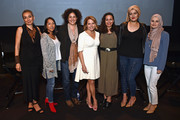 (L-R) Zainab Salbi, Sana Amanat, Amber Fares, Katie Couric, Hoda Hawa, Amani Al-Khatahtbeh, and Suzanne Barakat attend National Geographic's special screening of AMERICA INSIDE OUT WITH KATIE COURIC in association with Women in the World on April 13, 2018 in New York City. AMERICA INSIDE OUT WITH KATIE COURIC, a new six-part documentary series, follows Couric as she travels the country to talk with the people bearing witness to the most complicated and consequential questions in American culture today. The weekly series airs globally on National Geographic, Wednesdays, 10/9c.