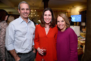 """(L-R) John Molner, Carolyn Bernstein, and Katie Couric attend a special screening of National Geographic's upcoming limited series """"Valley Of The Boom"""" at the home of executive producer Arianna Huffington on January 11, 2019 in New York City. The series premieres Sunday, January 13th at 9:00/8:00c."""