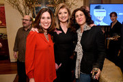 """(L-R) Carolyn Bernstein, Arianna Huffington and Jennifer Rudolph Walsh attend a special screening of National Geographic's upcoming limited series """"Valley Of The Boom"""" at the home of executive producer Arianna Huffington on January 11, 2019 in New York City. The series premieres Sunday, January 13th at 9:00/8:00c."""