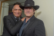 Jimmy Smits, Actor/Founder and Robert Rodriguez, El Ray Network Founder attends the National Hispanic Foundation For The Arts 2018 Noche De Gala at the Mayflower Autograph Collection on September 11, 2018 in Washington, DC.