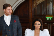 (L-R) Matthew Sarsfield and Charlotte Dawson attend the National Reality TV Awards held at Porchester Hall on September 25, 2018 in London, England.