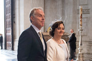 Tony Blair and Cherie Blair arrive for a service of thanksgiving for Queen Elizabeth II's 90th birthday at St Paul's cathedral on June 10, 2016 in London, United Kingdom.