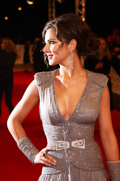 (UK TABLOID NEWSPAPERS OUT) Cheryl Cole arrives at the National Television Awards held the at The O2 Arena on January 20, 2010 in London, England.