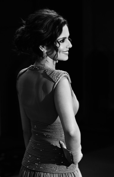 THIS BLACK AND WHITE IMAGE WAS CREATED FROM ORIGINAL COLOUR FILE) Singer and X Factor judge Cheryl Cole arrives at the National Television Awards held at O2 Arena on January 20, 2010 in London, England.