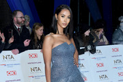 Maya Jama attends the National Television Awards held at the O2 Arena on January 22, 2019 in London, England.
