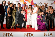 "Claudia Winkleman, Tess Daly and the cast and crew with the award for Talent Show for ""Strictly Come Dancing"" during the National Television Awards held at The O2 Arena on January 22, 2019 in London, England."