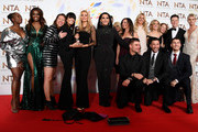"Motsi Mabuse, Oti Mabuse, Claudia Winkleman, Tess Daly, Michelle Visage, Aljaz Skorjanec, Giovanni Pernice, Gorka Marquez, Anton du Beke and Nadiya Bychkova, accepting the Best Talent Show for ""Strictly Come Dancing"", pose in the winners room during the National Television Awards 2020 at The O2 Arena on January 28, 2020 in London, England."