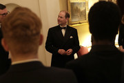 Prince Edward, Earl of Wessex attends the National Youth Theatre Baroque And Roll Fundraising Gala 2020 at Spencer House on February 11, 2020 in London, England.