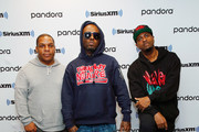(L-R) Vin Rock, Treach and DJ Kay Gee pose for photo after a Naughty By Nature Performance On LL Cool J's Rock The Bells Radio On SiriusXM on November 22, 2019 in New York City.