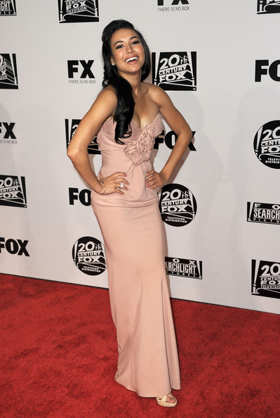 Actress Naya Rivera arrives at the Fox Searchlight 2011 Golden Globe Awards