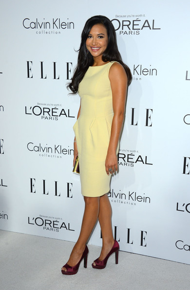 Naya Rivera Actress Naya Rivera arrives at ELLE's 19th Annual Women In Hollywood Celebration at the Four Seasons Hotel on October 15, 2012 in Beverly Hills, California.