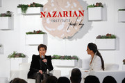 Kris Jenner (L) and Dr. Sheila Nazarian seen onstage during Nazarian Institute's ThinkBIG 2020 Conference featuring keynote speaker Kris Jenner at 1 Hotel West Hollywood on January 11, 2020 in West Hollywood, California.