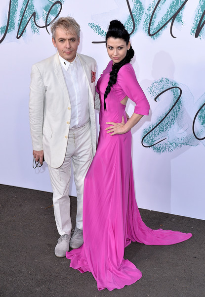 The Serpentine Galleries Summer Party - Arrivals [pink,formal wear,suit,clothing,carpet,red carpet,dress,fashion,tuxedo,event,arrivals,nick rhodes,nefer suvio,london,england,the serpentine gallery,serpentine galleries summer party,the serpentine galleries summer party]
