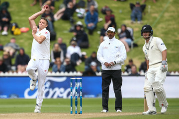 Neil Broom New Zealand v South Africa - 2nd Test: Day 3