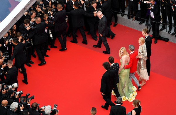 'How to Talk to Girls at Parties' Red Carpet Arrivals - The 70th Annual Cannes Film Festival [how to talk to girls at parties,red carpet,carpet,flooring,event,fashion,premiere,crowd,audience,performance,red carpet arrivals,neil gaiman,nicole kidman,john cameron mitchell,alex sharp,elle fanning,abraham lewis,british,cannes film festival]