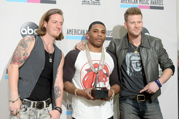 Nelly Brian Kelley Press Room at the American Music Awards