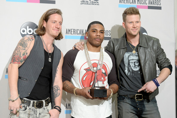 Press Room at the American Music Awards  [single of the year,event,award,nelly,singers,winners,tyler hubbard,american music awards,c,room,l,florida georgia line]