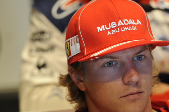 Kimi Raikkonen of Finland is waiting for the Pre Event FIA Press Conference in Jyvaskyla, Finland