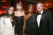 Taylor Swift, Nicole Avant and Netflix Chief Content Officer Ted Sarandos attend the Netflix 2019 Golden Globes After Party on January 6, 2019 in Los Angeles, California.