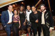 (L-R) Wyatt Nash, Logan Browning, Antoinette Robertson, Marque Richardson, Brandon P. Bell and John Patrick Amedori attend Netflix 2019 Nominees Toast at Private Residence on January 26, 2019 in Los Angeles, California.