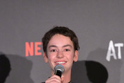 """Brigette Lundy-Paine speaks onstage during Netflix """"Atypical"""" Season 3 special screening at Natural History Museum on October 28, 2019 in Los Angeles, California."""